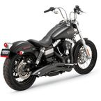 Black Big Radius 2 into 1 Exhaust System - 48021
