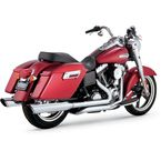 Dual Cross Over Exhaust w/Twin Slash Cut Mufflers - 16853