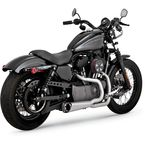 Black Ceramic Powder-Coat Stainless Steel Competition Series 2-into-1 Exhaust System - 751149