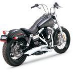 Chrome Big Radius 2-into-1 Exhaust - 28013