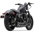 Black Speedster Shorts Exhaust w/Powerport and Clear-Coated Machined Aluminum Racepro Tips - 6785B