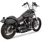 Black Hi-Output Grenades 2-into-2 Exhaust System w/Pearl/Nickel End Caps - 46896