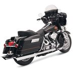 Chrome 4 in. Scalloped Slash-Cut Slip-On Mufflers w/2-1/2 in. Performance Baffles - FLH-523SL