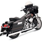 Chrome 4 in. Slant Cut Slip-On Mufflers w/2 in. Standard Baffles - FLH-529