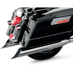Chrome 4 in. Scallop Slant-Cut Slip-On Mufflers w/2 in. Standard Baffles - FLH-529S