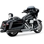 Black Powr-Flo 4 1/2 in. Slip-On Mufflers - 6215B