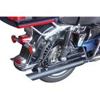 Black 3 in. Slash-Down Slip-On Mufflers  - MHD-292SD-B