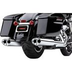 Chrome Tri-Oval II Slip-On Mufflers - 6219