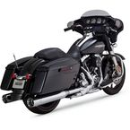 Chrome OverSized 450 Slip-On Mufflers - 16549