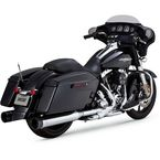 Chrome/Black Oversized 450 Slip-On Mufflers - 16551