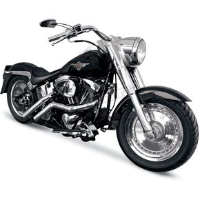 LA Choppers 187 Exhaust System w/Straight Cut Tip - LA-1187-01