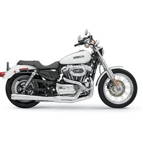 Bassani Chrome Long Road Rage 2 into 1 System w/Heat Shield - 14111J
