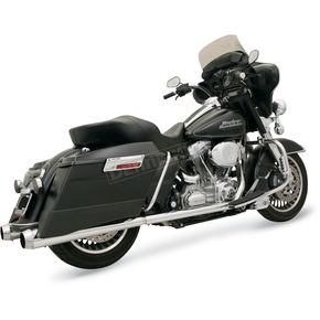 Bassani +P Bagger Stepped True-Dual Exhaust System with Power Curve - 1F46J