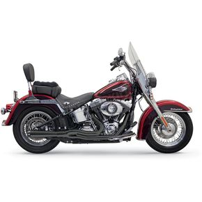 Bassani Black Road Rage II Mega Power Short Megaphone System W/Black Billet End Cap     - 1S12RB