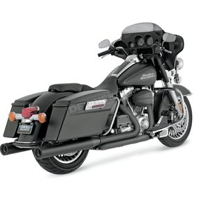 Vance & Hines Black Round Slip-On Mufflers - 46751