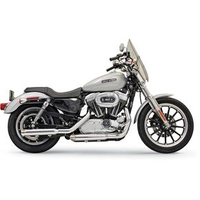 Bassani 3 in. Slash Cut Firepower Series Slip-On Mufflers - 1X17F