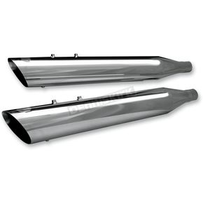 S&S Cycle Chrome 4 in. Race Tour Mufflers - 550-0182