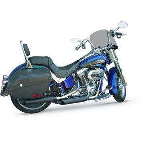 Cycle Shack Black Ceramic 3 1/4 in. Slash-Out Slip-On Mufflers  - MHD-322-B