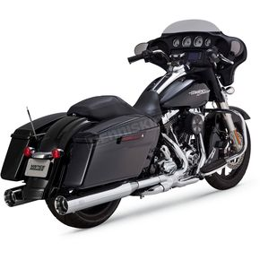 Vance & Hines Chrome OverSized 450 Titan Slip-On Mufflers - 16549