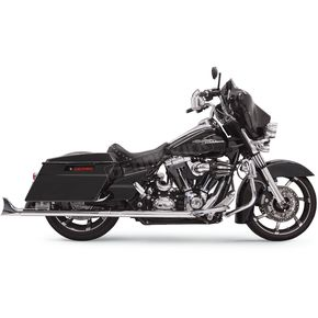 Bassani Chrome 33 in. True Dual Fishtail Slip-On Mufflers w/o Baffles - 1F17E36