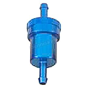 Emgo Blue Anodized Aluminum Fuel Filter  - 14-34431