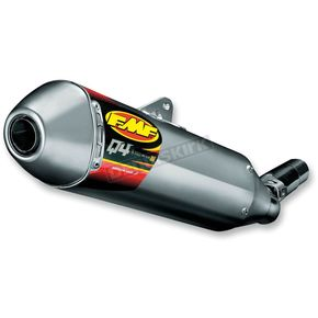 FMF Q4 HEX S/A Spark Arrestor Slip-On Muffler - 043338