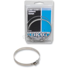 Drag Specialties 2.25 in. - 3.25 in. Stainless Steel Worm Clamps - 1861-0673