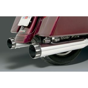 Bassani Ceramic Black Straight Billet End Caps For Quick Change Series Mufflers - BE40T-2