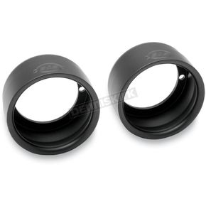 S&S Cycle Black 4 in. Straight End Caps - 550-0211