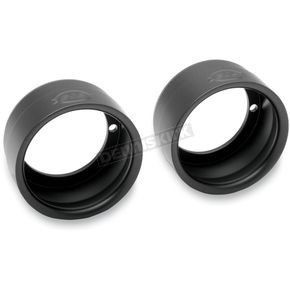 S&S Cycle Black 4 in. Sculpted End Caps - 550-0213