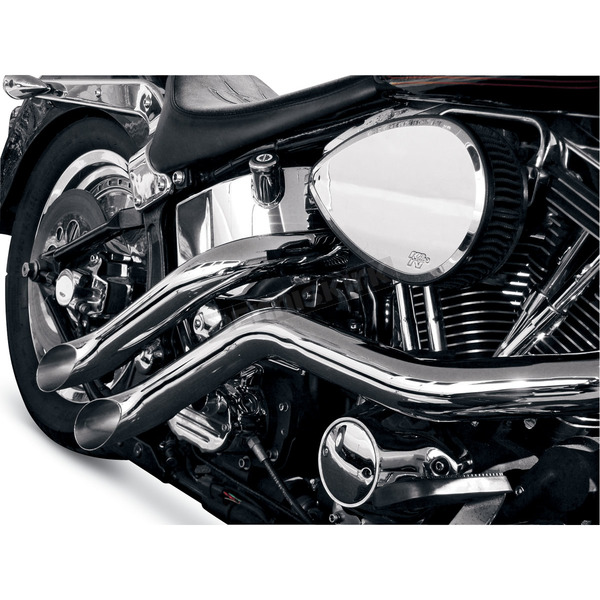 LA Choppers 187 Exhaust System w/Lazer Cut Tip - LA-1187-00