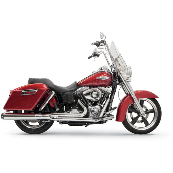 Bassani Chrome Road Rage 2 into 1 System - 1D28R