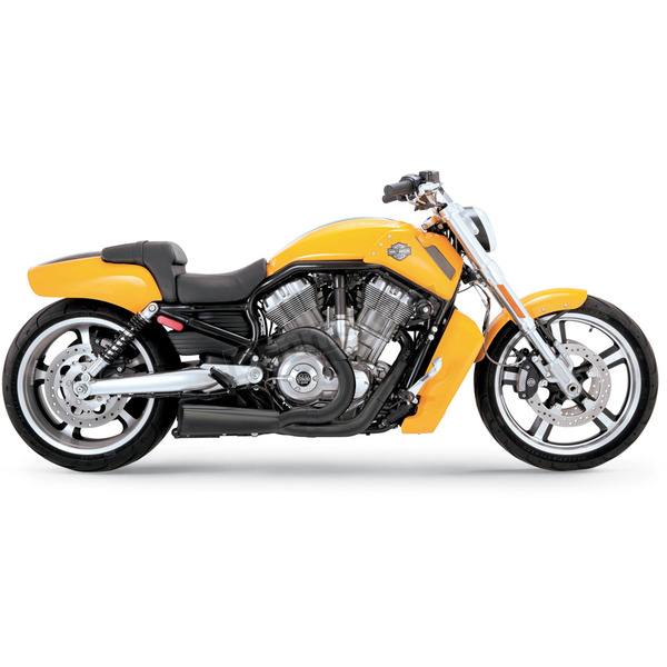 Vance & Hines Black Ceramic Powder-Coat Stainless Steel Competition Series 2-into-1 Exhaust System - 751169