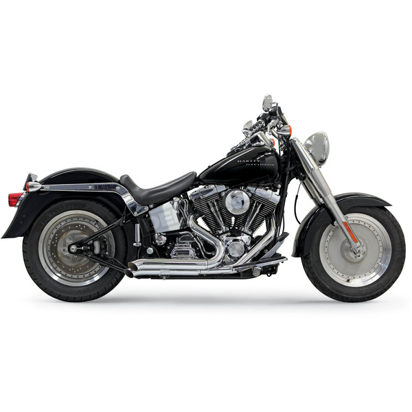Bassani Chrome Turn-Out Pro-Street Exhaust System - 1S24D