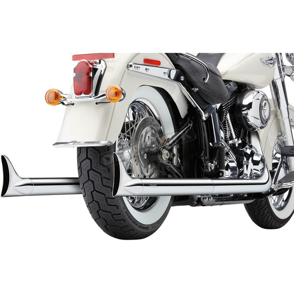 Cobra Chrome True Duals Exhaust System w/Fishtail Tips - 6989