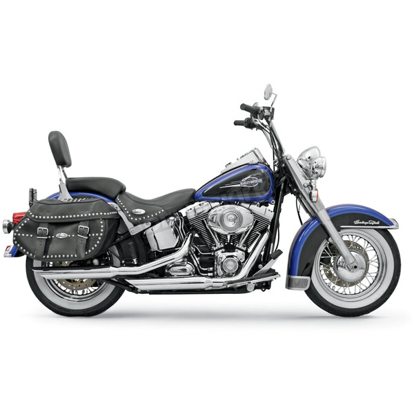 Bassani 3 in. Slash Down Firepower Series Slip-On Mufflers - 12117B