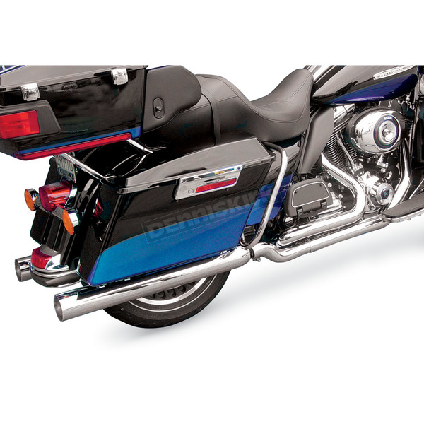 Cycle Shack 3-1/2 in. Straight-Cut Bazooka Tube Mufflers for 1-3/4 in. Header System - MHC-350ST