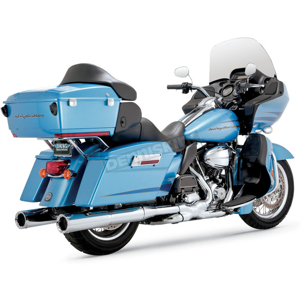 Vance & Hines Chrome 4 1/2 in. Hi-Output Slip-On Mufflers - 16455
