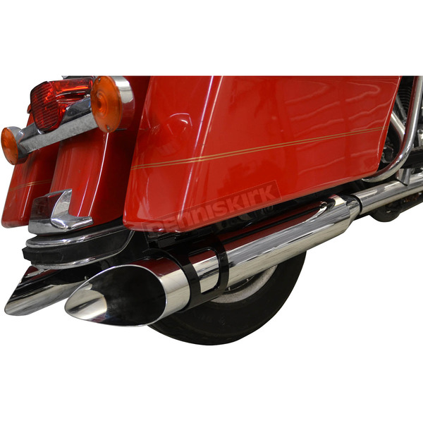 LA Choppers Chrome 4 in. Rotatable Slash Slip-On Mufflers - LA-1094-03B
