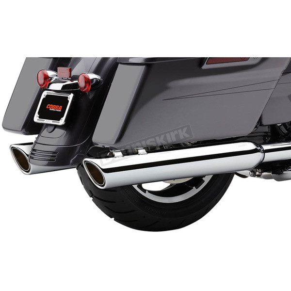Cobra Chrome 4 in. 909 Twin Mufflers - 6106