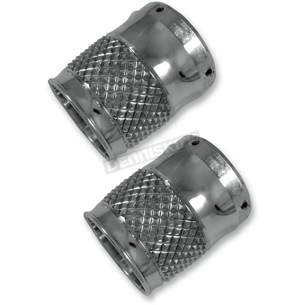 Thunder Cycle Designs Cross Cut Chrome Exhaust Tips for 4 Inch Rinehart Exhaust - TC-994