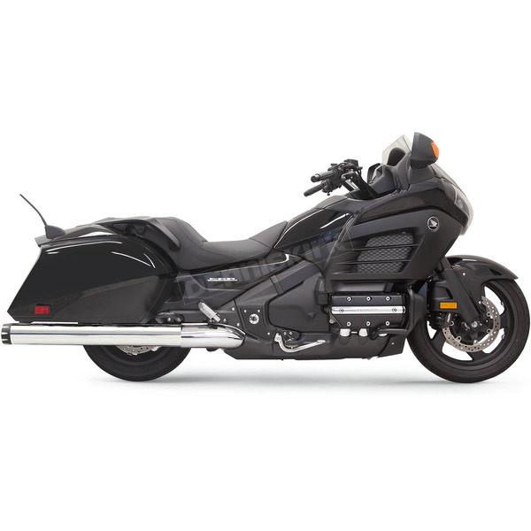 Bassani Polished Stainless/Black 4 in. Slip-on Mufflers  - 2F17T