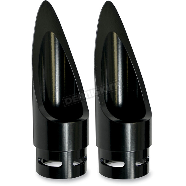 Baron Custom Accessories Black Family Jewel Scalloped Exhaust Tip - BA-1100-01B