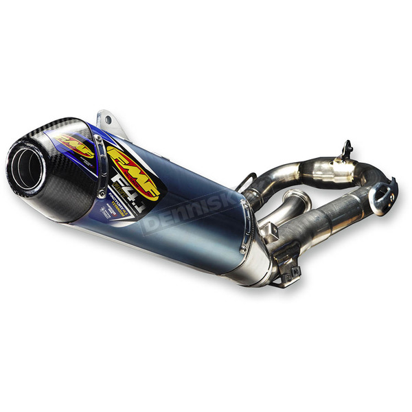 FMF Factory 4.1 RCT Blue Anodized System w/Carbon End Caps - 044412