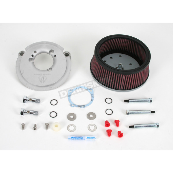 Arlen Ness Natural Big Sucker Stage 2 Performance Air Cleaner Kit without Cover - 18-804