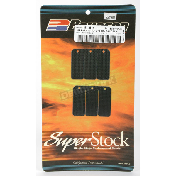 Boyesen Super Stock Carbon Reeds - SSC-301