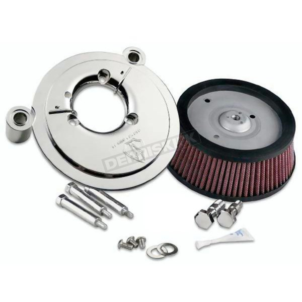 Arlen Ness Chrome Big Sucker Stage 1 Performance Air Cleaner Kit without Cover - 18-512