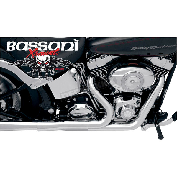 Bassani Optional Heat Shields for Short Road Rage 2 into 1 Systems - HSSFT237SM
