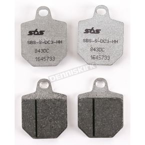 SBS Racing Dual Carbon Brake Pads - 843DC