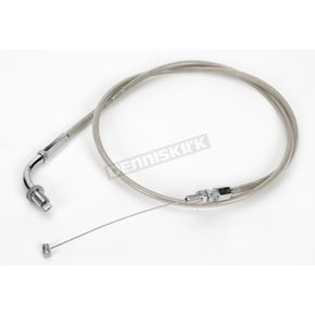 Armor Coat Braided Stainless Steel Pull Throttle Cable - 62-0309